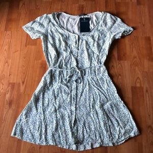 brandy melville floral button up Lara dress New